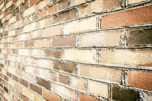 vecchio muro di mattoni vintage foto