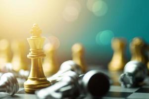 vincitore del gioco degli scacchi da tavolo foto