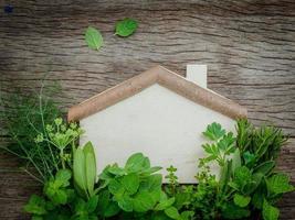casa di legno ed erbe aromatiche foto