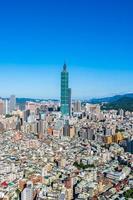 taipei 101 tower nella città di taipei, taiwan foto