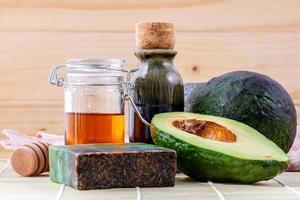 trattamento naturale di avocado foto