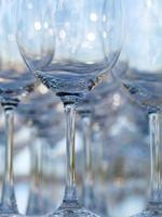 gruppo di bicchieri a stelo foto