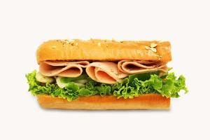 panino non vegetariano sottomarino isolato foto