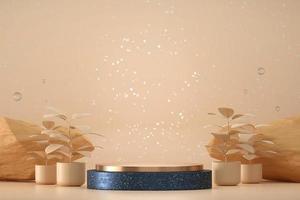 mockup di podio palco in marmo astratto