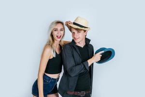 coppia di moda essere divertente insieme