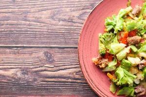 insalata con copia spazio foto