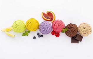 gelato isolato foto