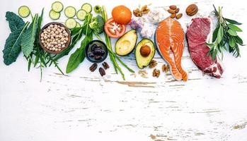 ingredienti sani crudi foto