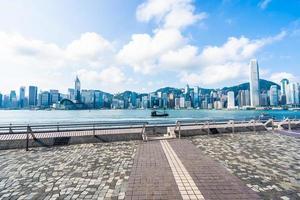 vista aerea della città di hong kong, cina foto