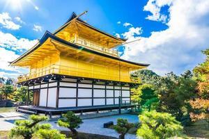 tempio kinkakuji o padiglione d'oro a kyoto, giappone foto