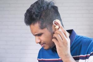 concetto di apparecchio acustico foto