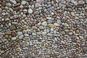 strada di ciottoli di pietra foto