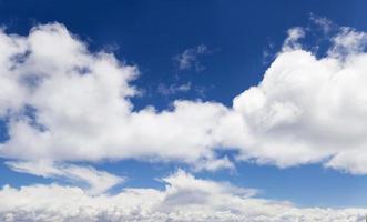 bellissimo panorama di nuvole nel cielo foto