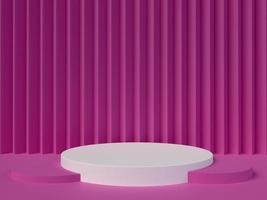 elementi di design minimali di forma geometrica, rendering 3d foto