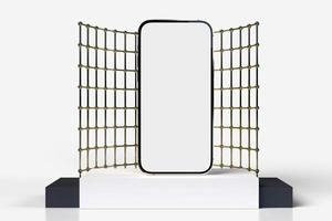 smartphone mobile, mockup di cellulare per applicazione mobile, rendering 3d foto