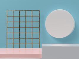 elementi di design minimali di forma geometrica, rendering 3d