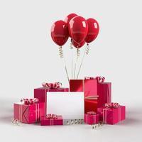 Happy valentines day 3d render decorazioni foto