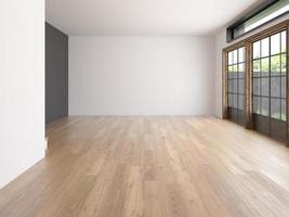 stanza vuota interna nella rappresentazione 3d foto