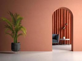 stanza interna concettuale nell'illustrazione 3d foto