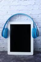 concetto di libro audio foto