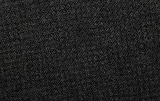 trama del tessuto nero foto