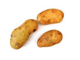 patate su uno sfondo bianco foto