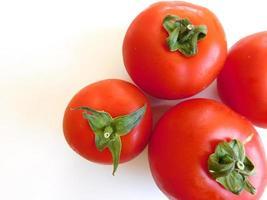 pomodori su uno sfondo bianco foto