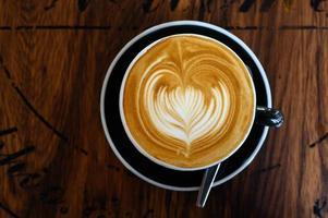 caffè latte art foto