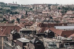 skyline di paesaggio urbano di Praga foto