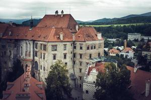 boemia meridionale, repubblica ceca 2018 - famoso castello di cesky krumlov foto