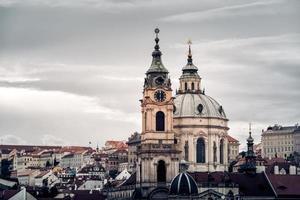 vista del paesaggio urbano di praga, repubblica ceca foto