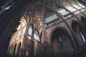interno della cattedrale di San Vito. Praga, Repubblica Ceca foto