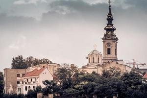 belgrado, serbia 2015 - vista di stari grad e st. cattedrale di san michele foto