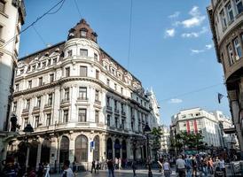 belgrado, serbia 2015 - zona pedonale nel centro di belgrado foto