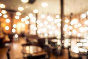 sfondo sfocato caffetteria e ristorante foto