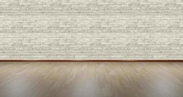 Fondali illustrazione 3d, pavimento in legno e scenario di cemento foto