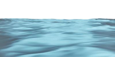 Illustrazione 3D dell'onda superficiale dell'acqua del mare foto