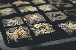 foglio di brownies foto