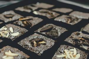 primo piano dei brownies foto