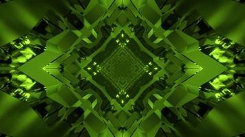 Illustrazione 3D del tunnel di cristallo geometrico
