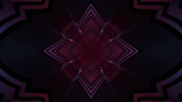 illuminazione al neon con illustrazione 3d motivo geometrico