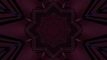 motivo geometrico con linee al neon 3d illustrazione