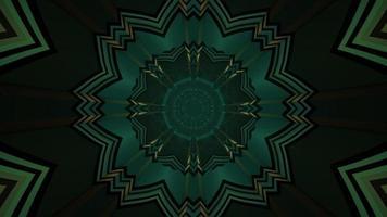 illustrazione 3d del modello di fiore geometrico