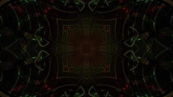oscuro motivo geometrico con effetti di luce 3d illustrazione
