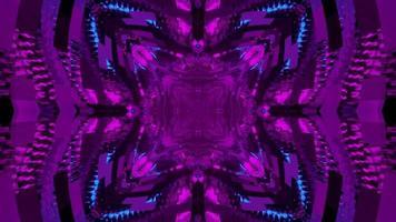 illustrazione 3d geometrica astratta di motivi a rombo viola