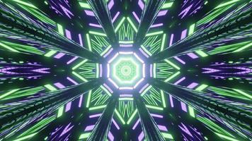 Abstract 3d illustrazione del luminoso poli geometrici angolari pattern