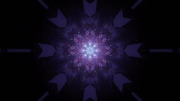 viola disegno geometrico con luci incandescenti 3d'illustrazione