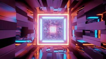motivo geometrico caotico con figure multicolori nell'illustrazione 3d