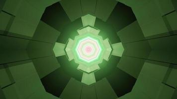 motivo geometrico verde con illustrazione 3d effetti di luce