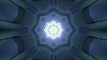 ornamento futuristico con illustrazione 3d stella incandescente foto